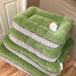 Heyday Bed for Dogs by Westpaw in Serenity Frost and Loden Green