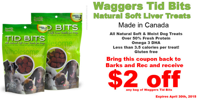 Barks and Recreation in Trail BC  Featured Treat Coupon Waggers Tidbits