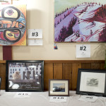 Many different types of art to bid on.