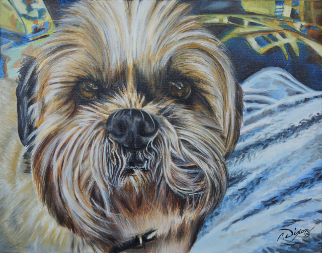 Pet-portrait-painting-Mickey-barks-and-recreation-in-trail-bc