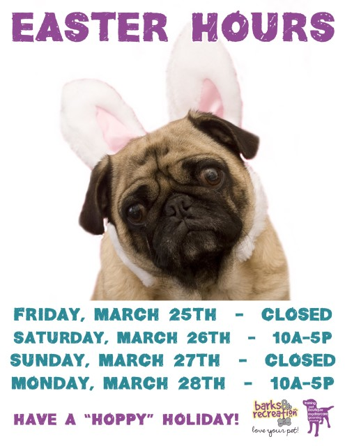 Easter Hours Sign 2016