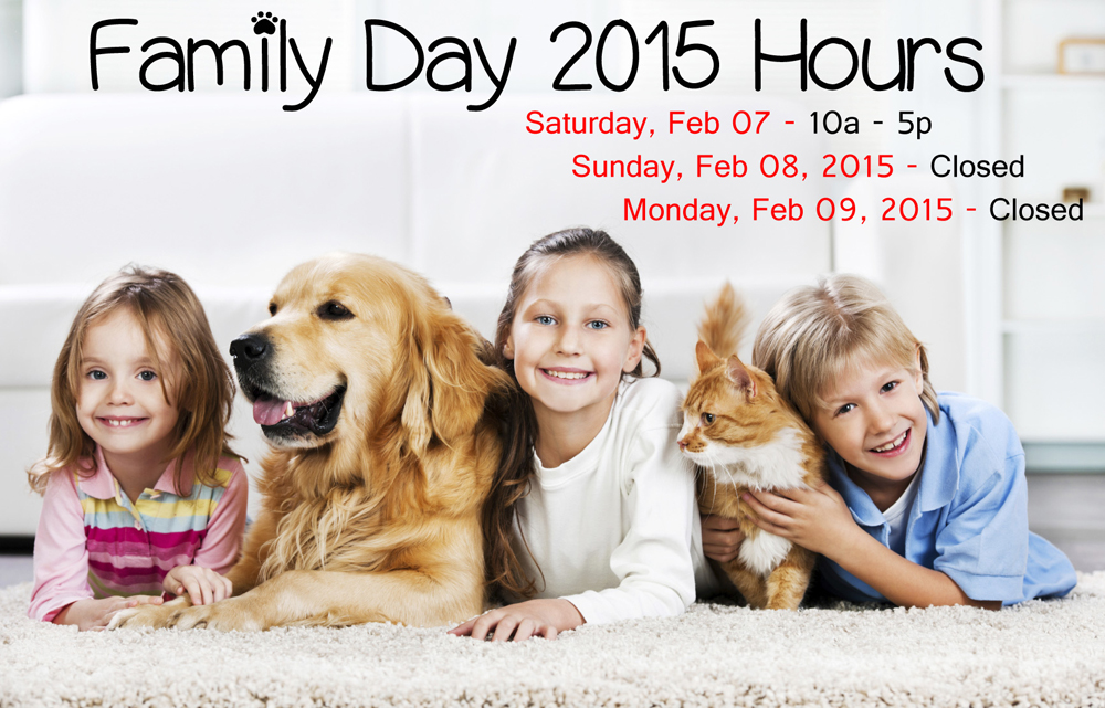 Family Day Hours 2015