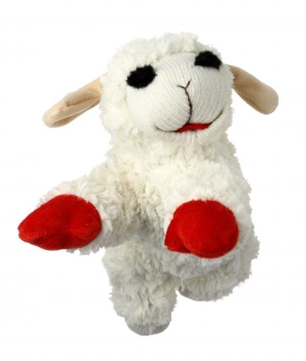 Multivet Mini Lamb Chop Dog Toy
