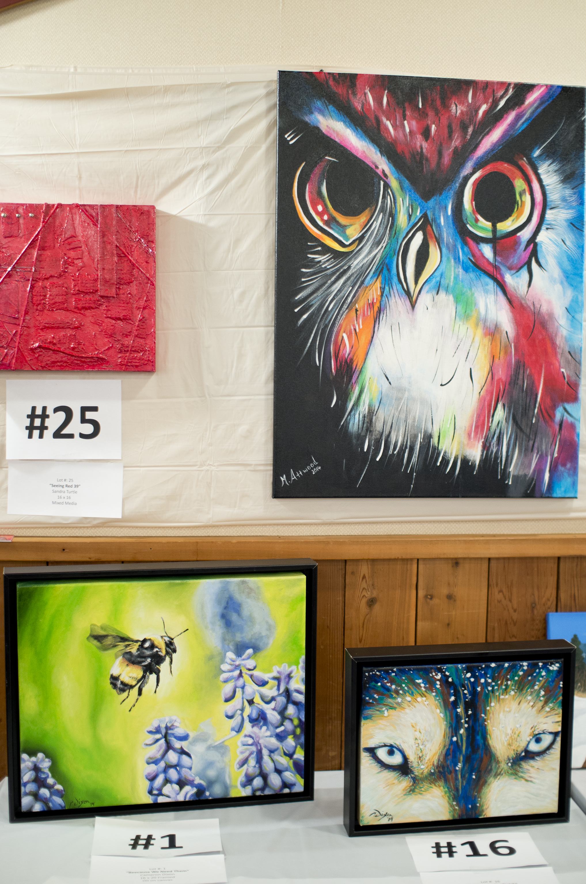 Fabulous paintings from last years event.