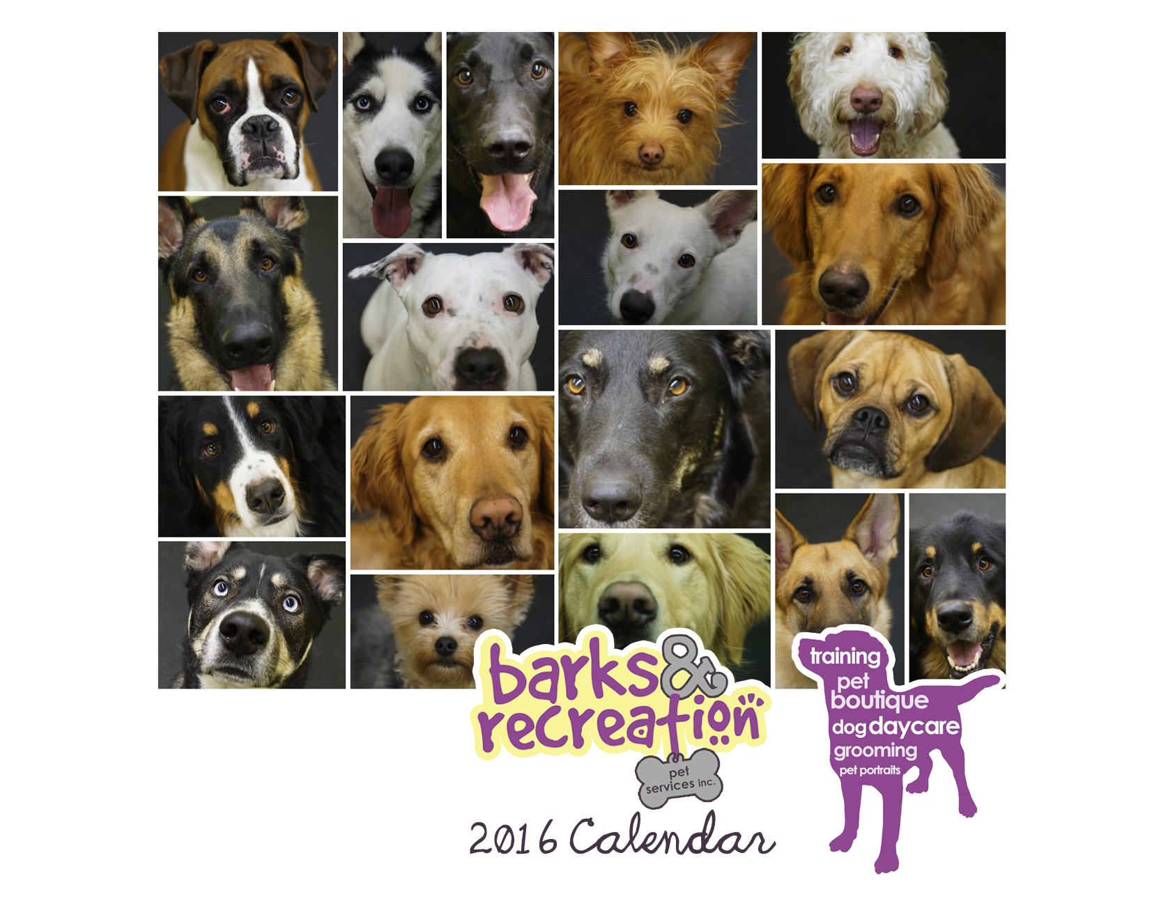 Barks and Recreation in Trail, BC 2016 Photo Wall Calendar