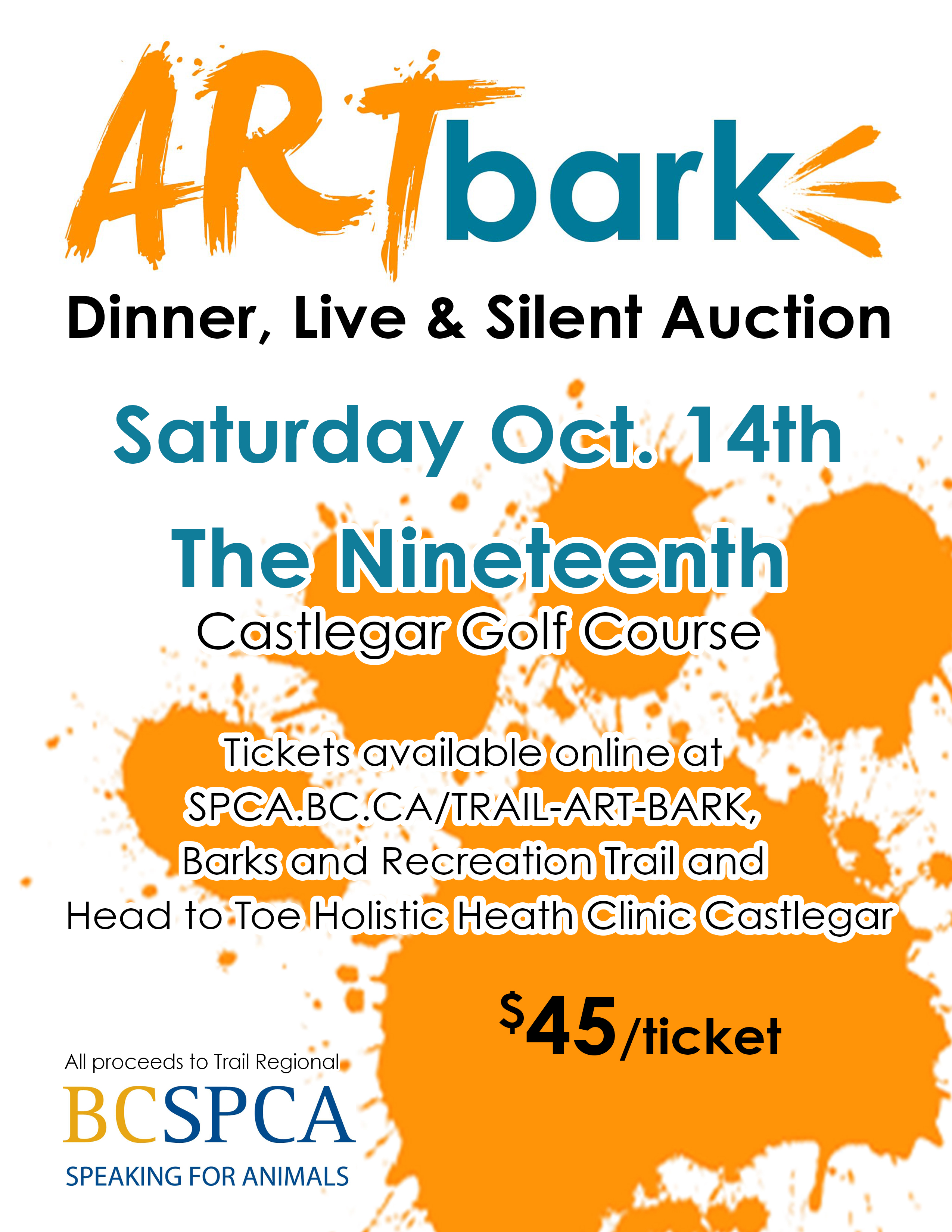Art Bark 3rd Annual Art Auction for Trail Regional BCSPCA